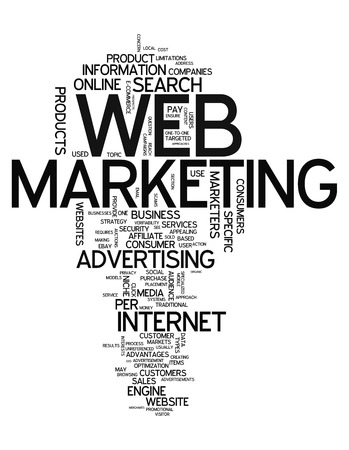 Word Cloud Web Marketing photo