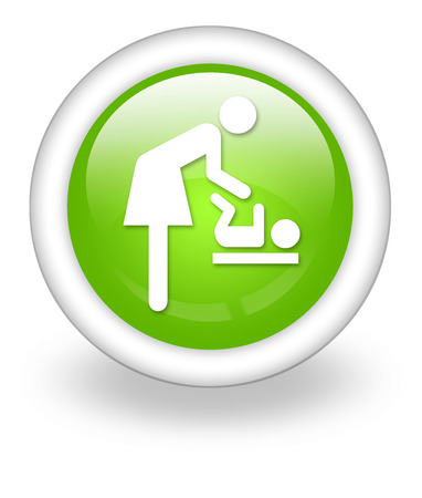 dispose: Icon, Button, Pictogram Baby Change Stock Photo