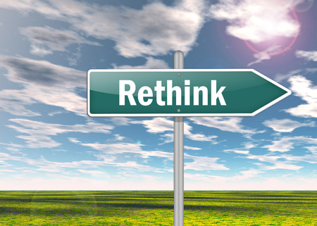 reconsideration: Signpost with Rethink wording
