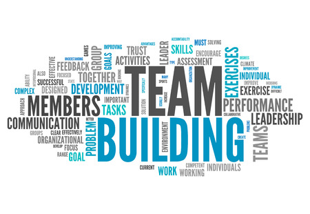 management team: Word Cloud with Team Building related tags
