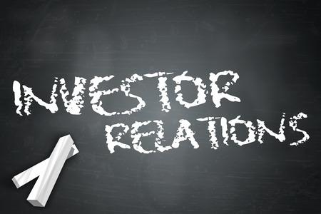 株主・投資家の言葉遣いと黒板
