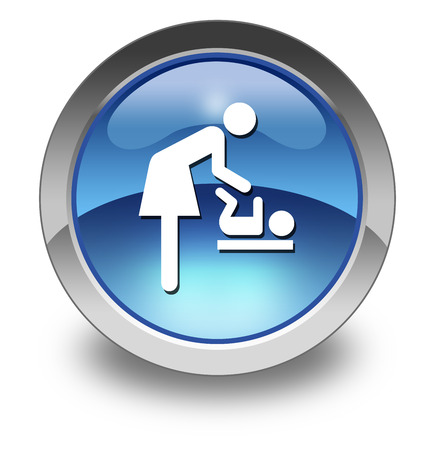 Icon, Button, Pictogram Baby Change photo