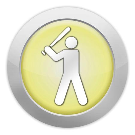 ballpark: Icon, Button, Pictogram with Baseball symbol