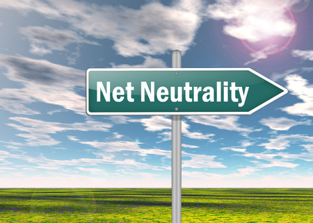 neutrality: Signpost with Net Neutrality wording