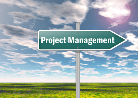 Signpost with Project Management wording photo