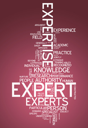 credentials: Word Cloud with Expert related tags