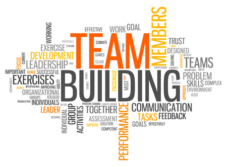 Word Cloud with Team Building related tags