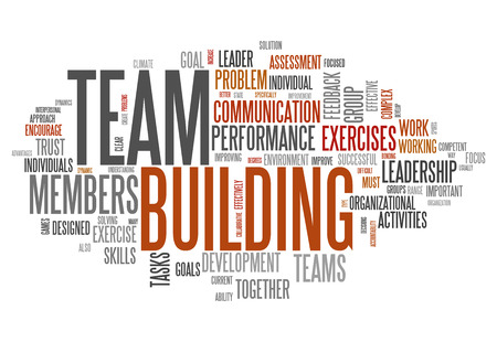 interdependent: Word Cloud with Team Building related tags