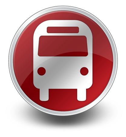 Icône, Bouton, pictogramme Bus Transport terrestre Banque d'images