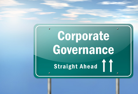 corporate governance: Highway Signpost with Corporate Governance wording