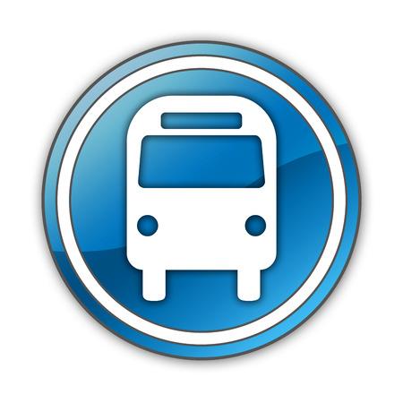 transporte terrestre: Icono, bot�n, Pictograma Bus de Transporte Terrestre