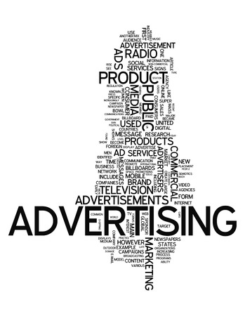 Word Cloud Advertising Stock Photo