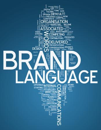 posicionamiento de marca: Palabra Nube Marca Idioma