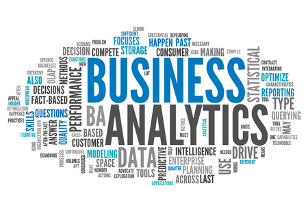 Word Cloud Business Analytics Foto de archivo
