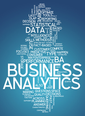 estimation: Word Cloud Business Analytics Stock Photo