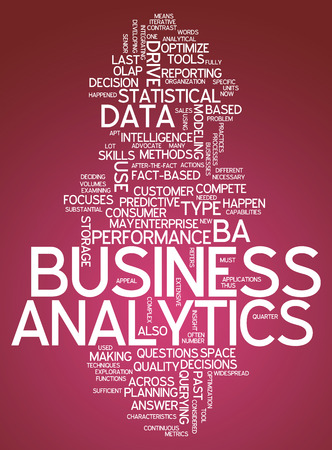 quantitative: Word Cloud Business Analytics Stock Photo