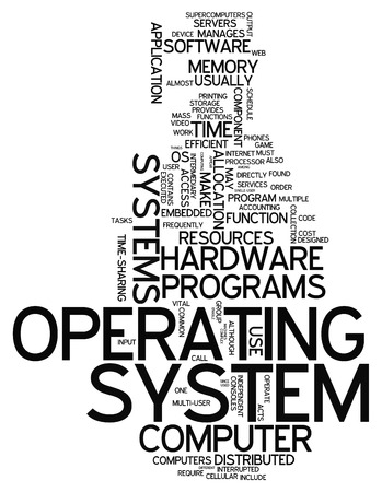 Word Cloud with Operating System related tags