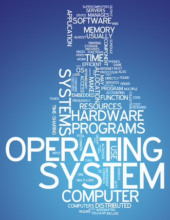 operating: Word Cloud with Operating System related tags