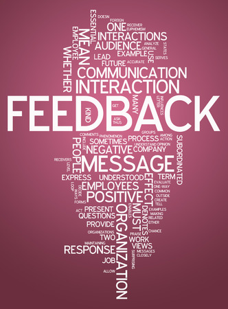 feed back: Word Cloud with Feedback wording Stock Photo