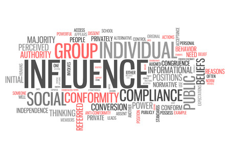 influential: Word Cloud with Influence related tags