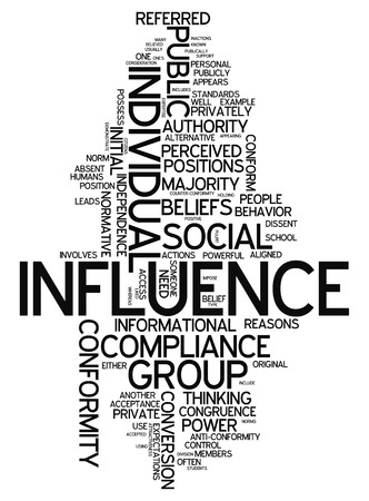 socialization: Word Cloud with Influence related tags