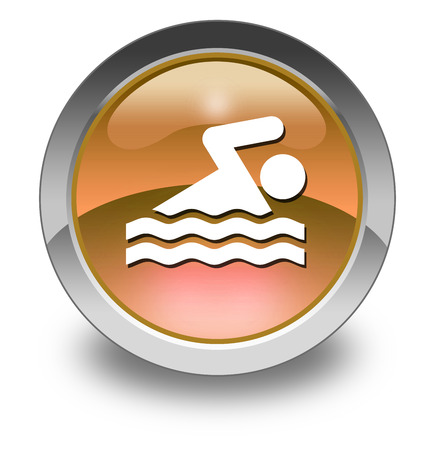 Icon, Button, Pictogram with Swimming symbol photo