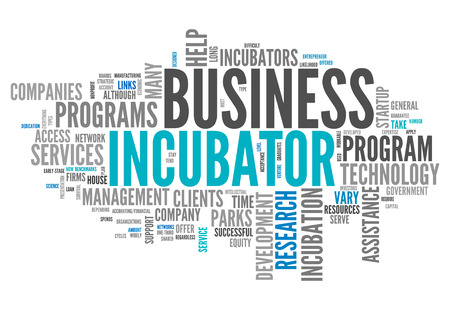 Word Cloud with Business Incubator related tags photo