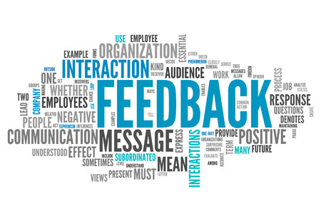 Word Cloud with Feedback wording Stock Photo
