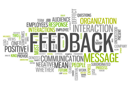 Word Cloud with Feedback wording Foto de archivo