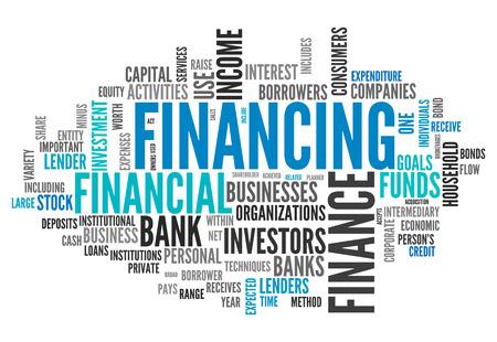 financing: Word Cloud with Financing wording
