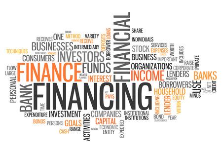 sponsorship: Word Cloud with Financing wording