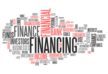 Word Cloud with Financing wording