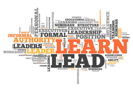 Word Cloud with Learn and Lead related tags 版權商用圖片
