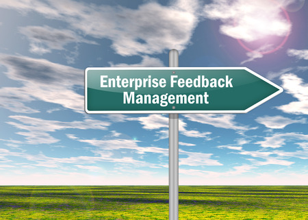 surveyed: Signpost with Enterprise Feedback Management wording