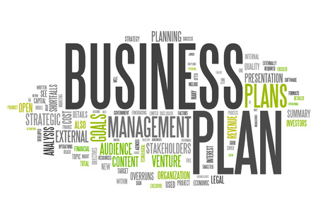 word collage: Word Cloud with Business Plan related tags
