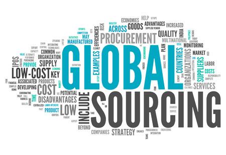 Word Cloud mit Global Sourcing verwandte Tags