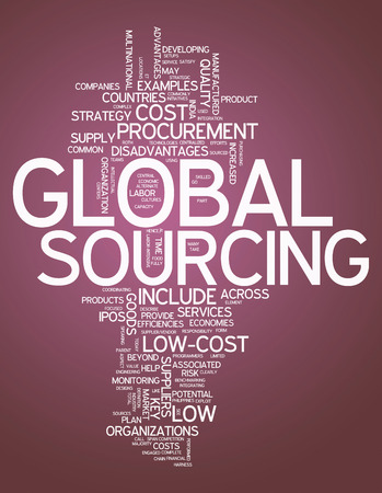 sourced: Word Cloud with Global Sourcing related tags