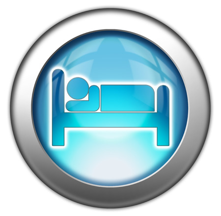 lodging: Icon, Button, Pictogram with Hotel, Lodging symbol Stock Photo