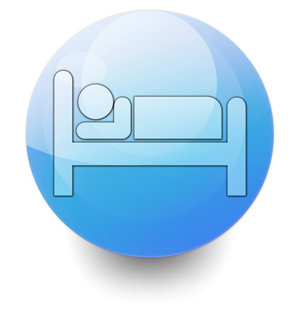 upscale: Icon, Button, Pictogram with Hotel, Lodging symbol Stock Photo