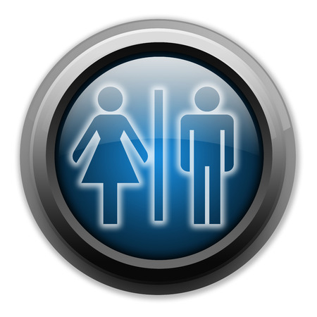 Icon, Button, Pictogram with Restrooms symbol photo