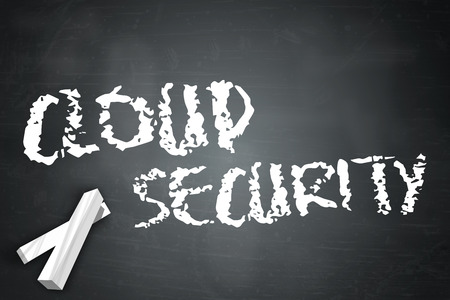 cloud security: Blackboard with Cloud Security wording Stock Photo