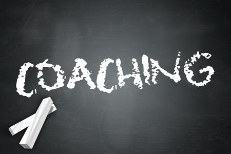 Blackboard with Coaching wording photo