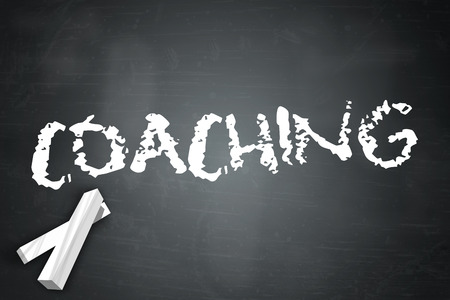 wording: Blackboard with Coaching wording Stock Photo