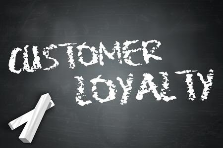 Blackboard with Customer Loyalty wording