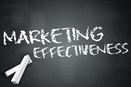 effectiveness: Blackboard with Marketing Effectiveness wording