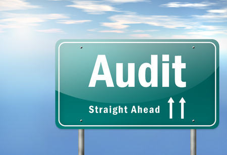 auditors: Highway Signpost with Audit wording