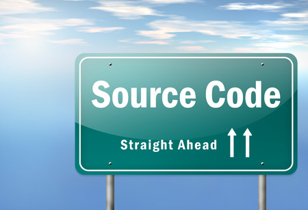 compiled: Highway Signpost with Source Code wording