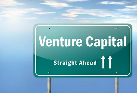 Highway Signpost with Venture Capital wording photo