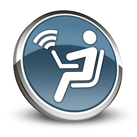 access point: Icon, Button, Pictogram with Wireless Access symbol