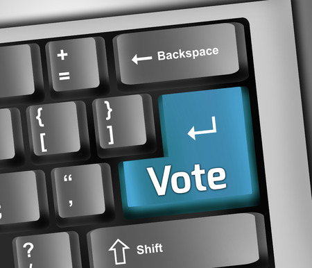 Keyboard Illustration with Vote wording illustration
